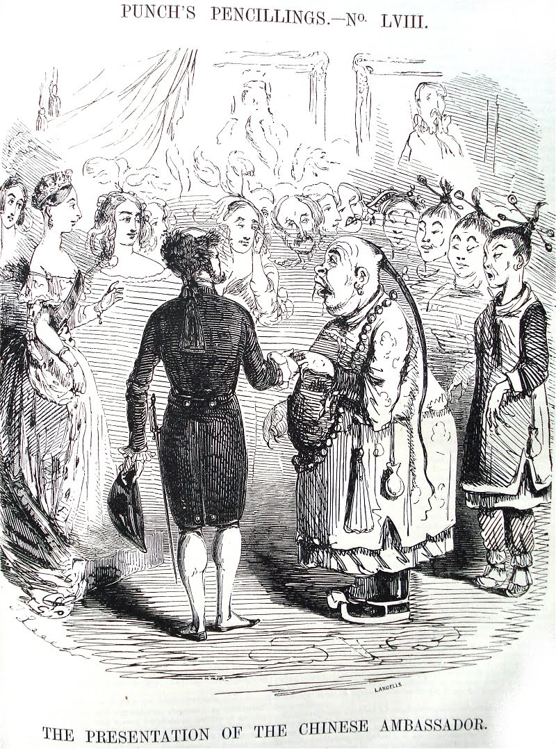 'The Presentation of the Chinese Ambassador' (John Leech, December 17th, 1842)