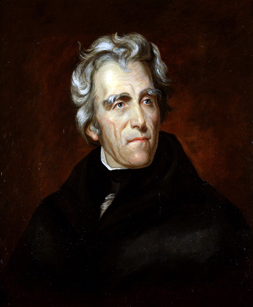 Andrew Jackson painted by Thomas Sully, 1824.
