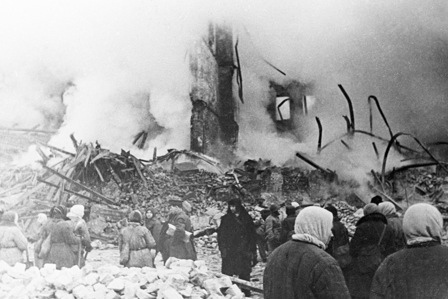 Residents during the Siege of Leningrad, c.1941.