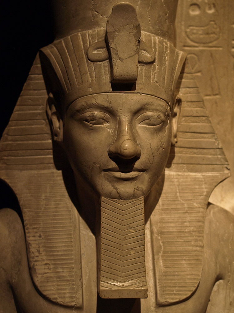 Detail of a statue of Horemheb, Kunsthistorisches Museum, Vienna.