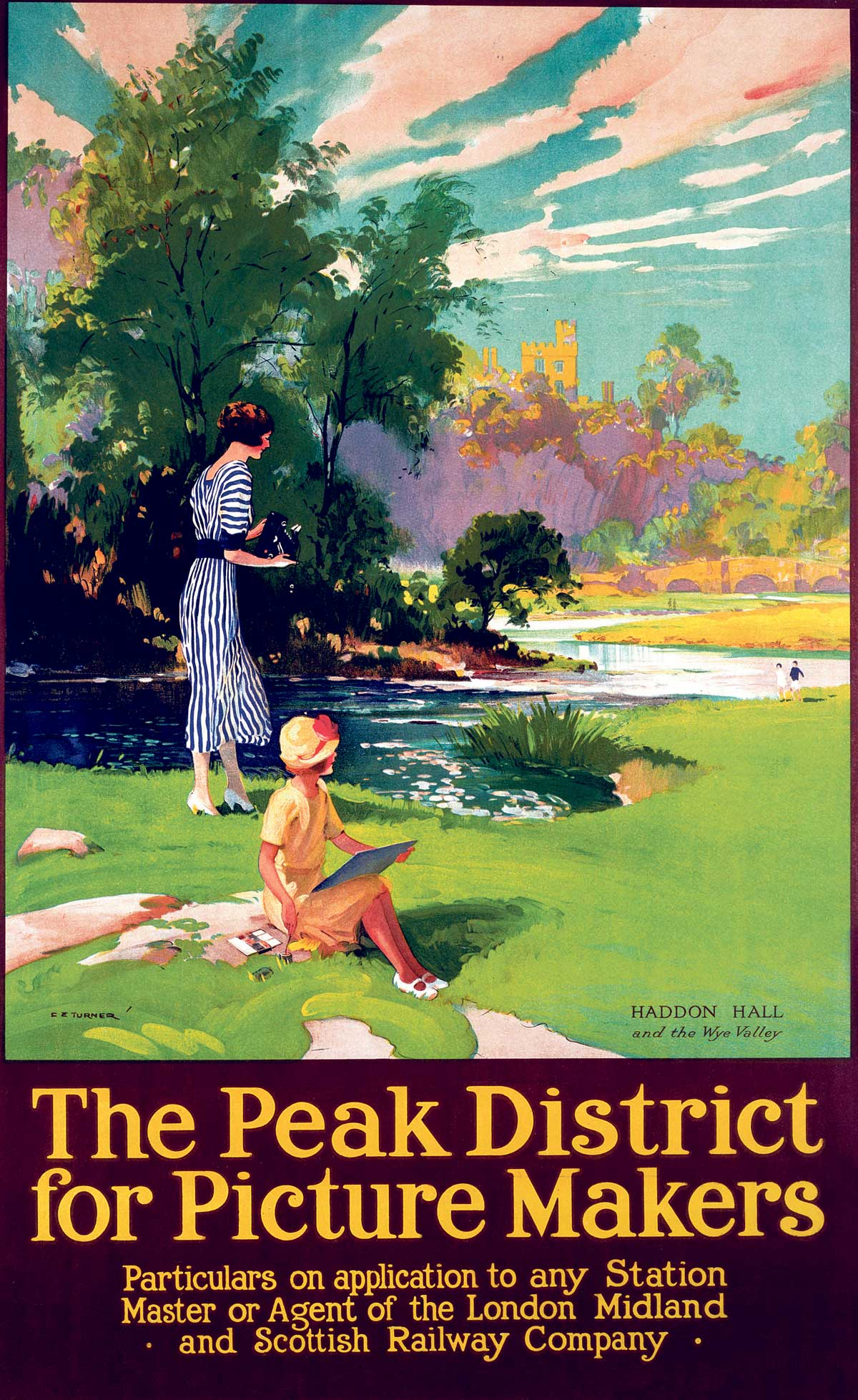 Railway poster for the Peak District, 1930s. Illustration by Charles E. Turner. Photo © Getty Images