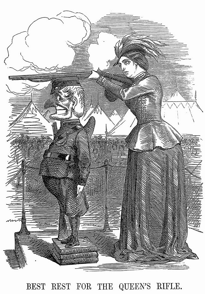 'Best Rest for the Queen's Rifle', Punch, 5 June 1860.