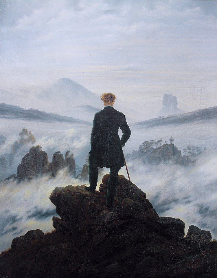 Wanderer above the Sea of Fog, Caspar David Friedrich, c.1818.