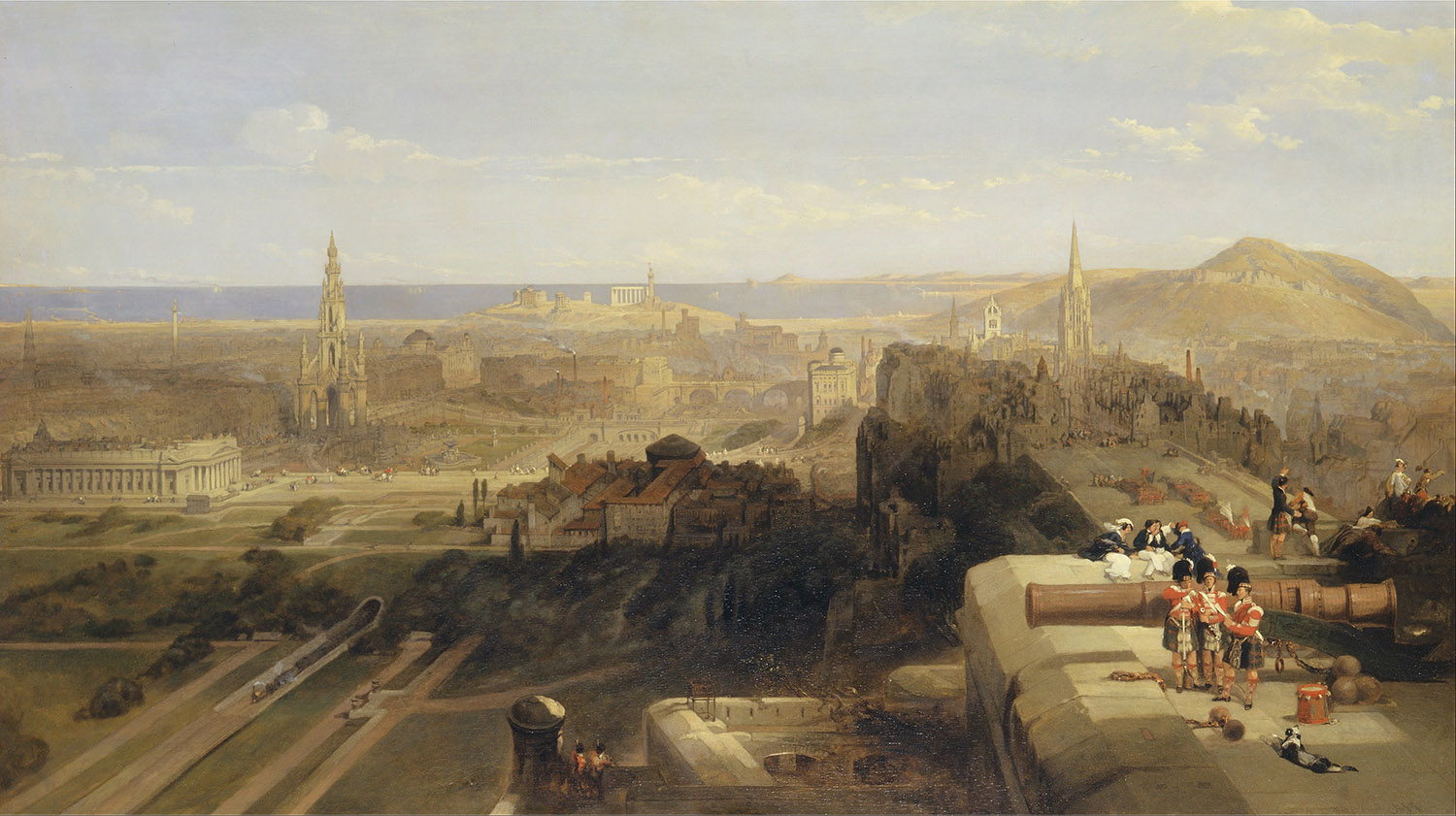Edinburgh from the Castle, David Roberts, 1847.