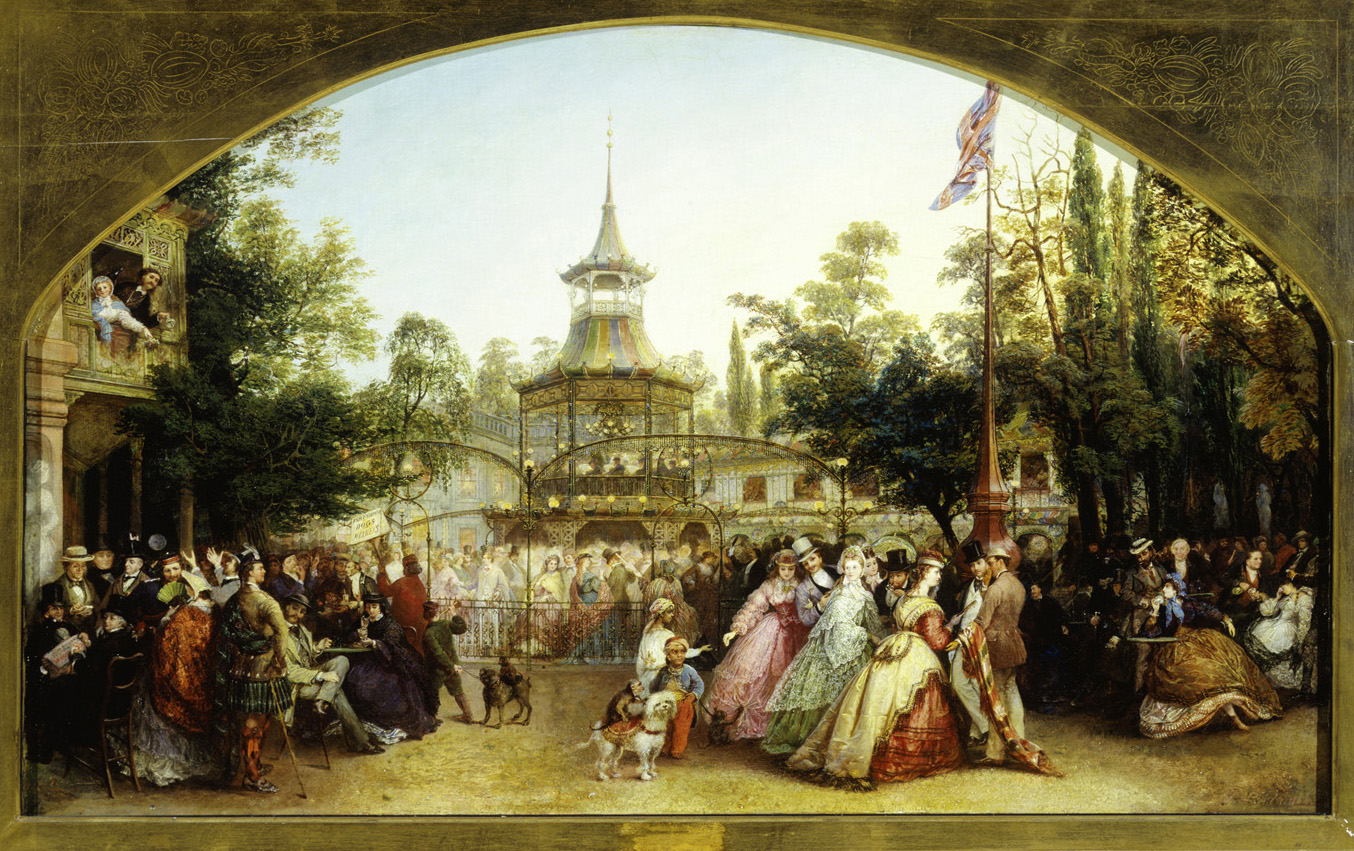 The Dancing Platform at Cremorne Gardens by Phoebus Levin, 1864.