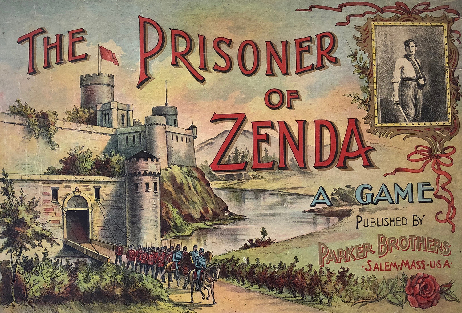 Board game version of The Prisoner of Zenda, 1896.