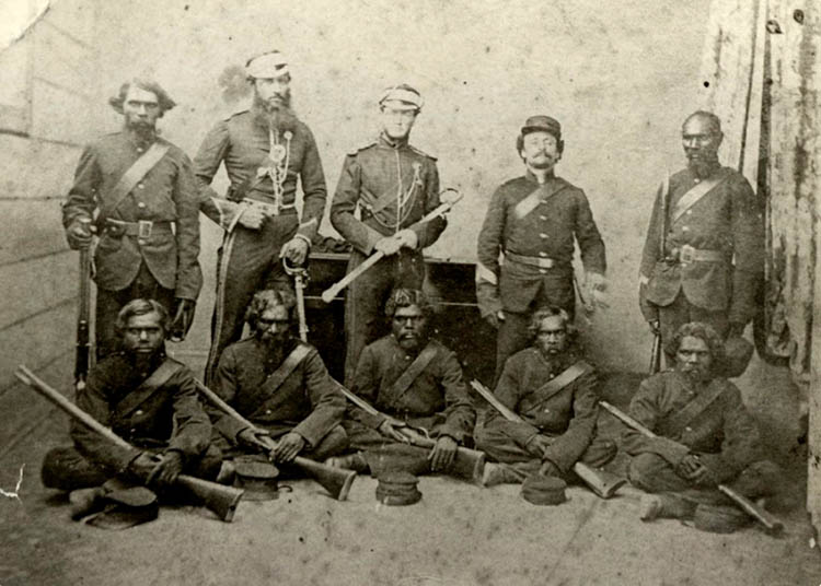 Native Police, Rockhampton, 1864.