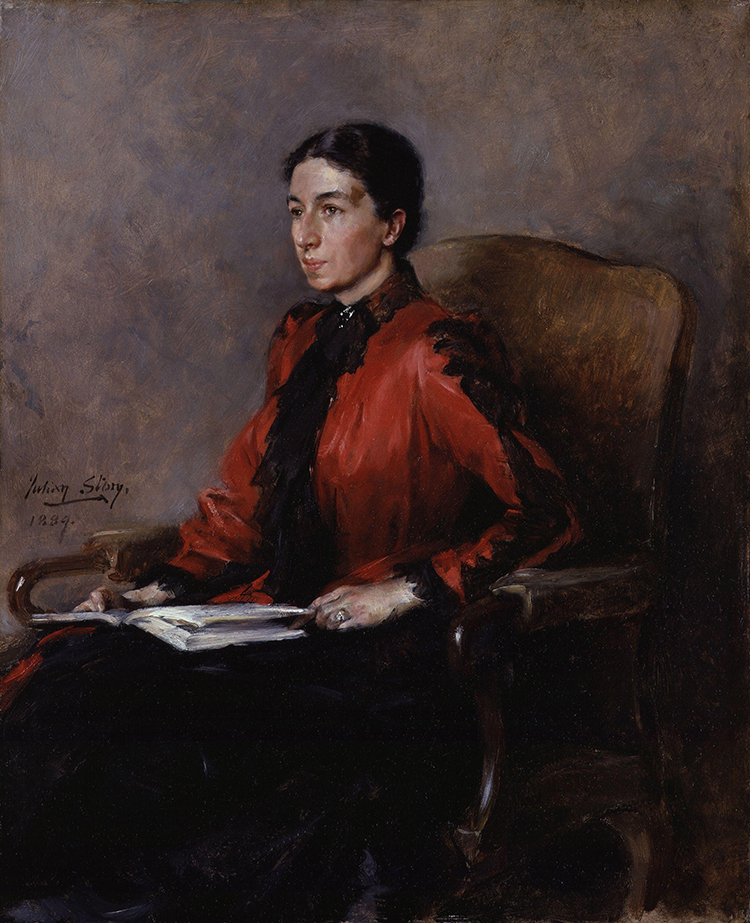 Mary Augusta Ward, by Julian Russell Story, 1889.