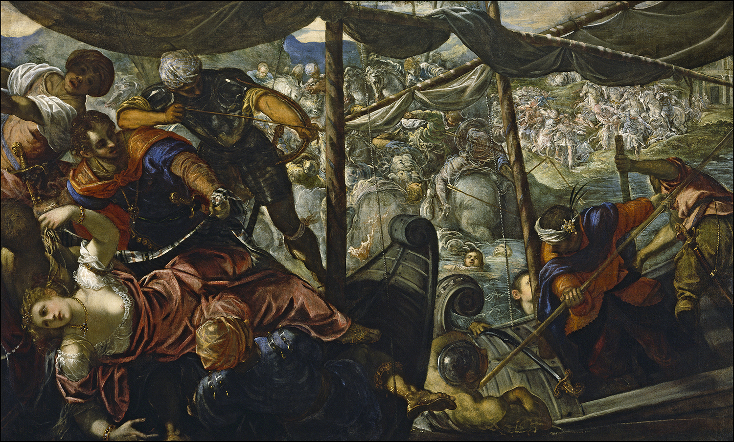 The Rape of Helen, Tintoretto, 1578–1579.