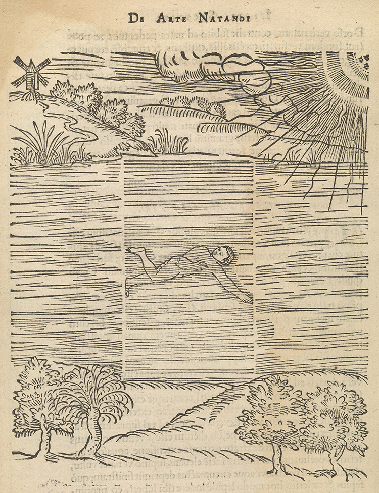 Illustration from De Arte Natandi, Everard Digby, 1587.