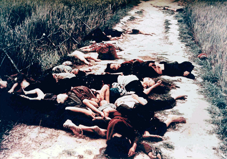 The My Lai massacre photographed by Ronald L. Haeberle, 16 March 1968.