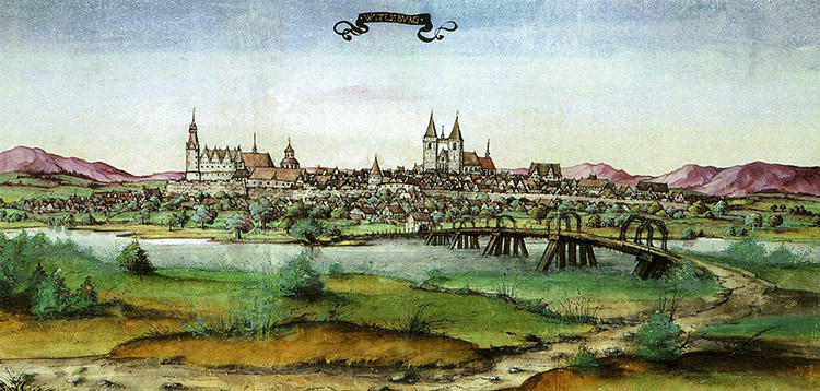 Wittenberg at the time of Luther. Wiki/Creative Commons