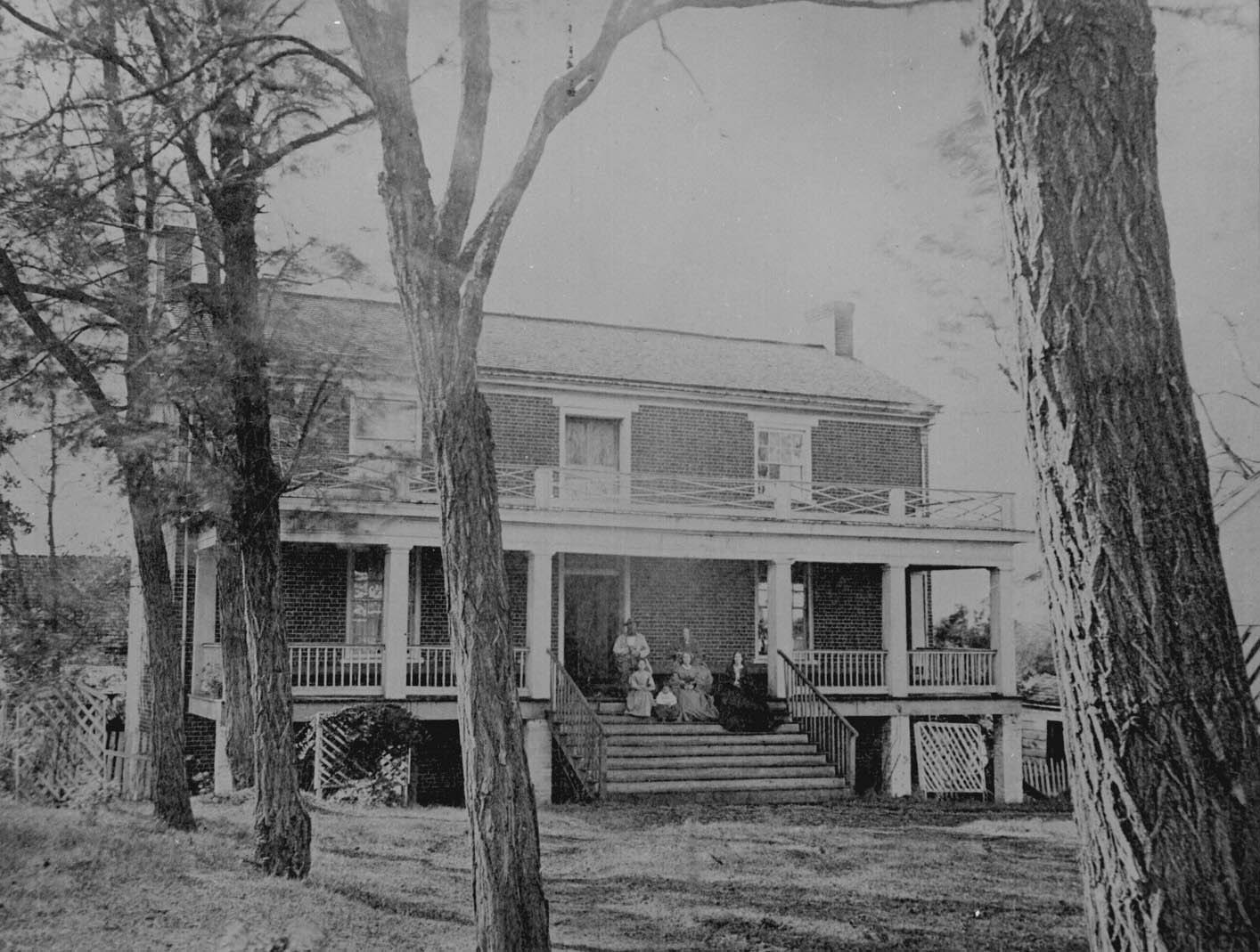 McLean house where General Lee surrendered. Appomattox Court House, Va., April 1865. Photographed by Timothy H. O'Sullivan.