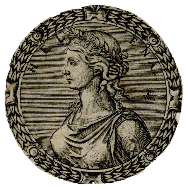 Bust portrait of Helen of Troy, Pierre Woeiriot, 1555-1562.