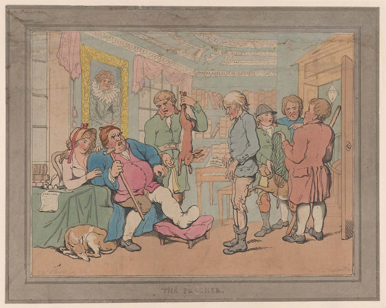 The Poacher, by Thomas Rowlandson, 1806.