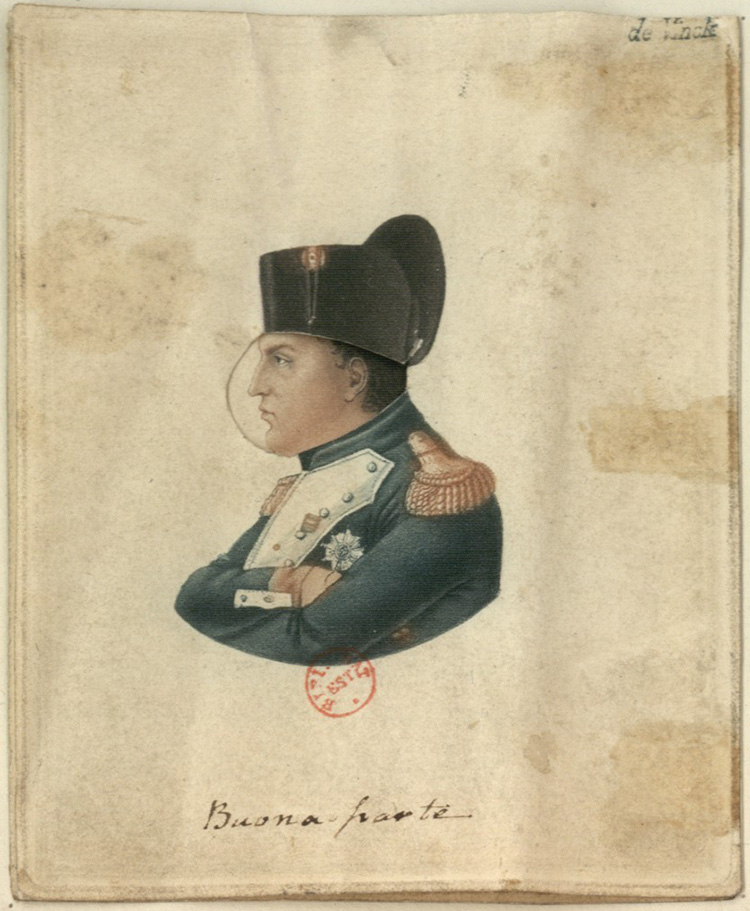 François-Joseph Talma as Napoleon, 1821. Courtesy BnF, France.