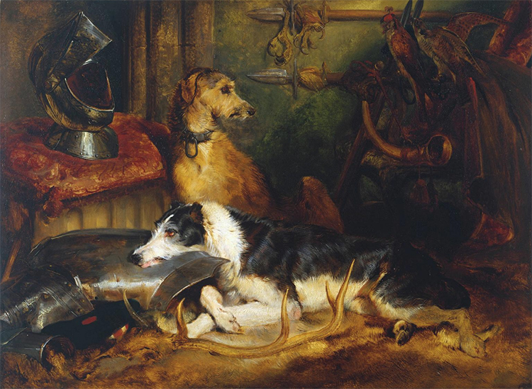 A Scene at Abbotsford, Sir Edwin Henry Landseer, c.1827.