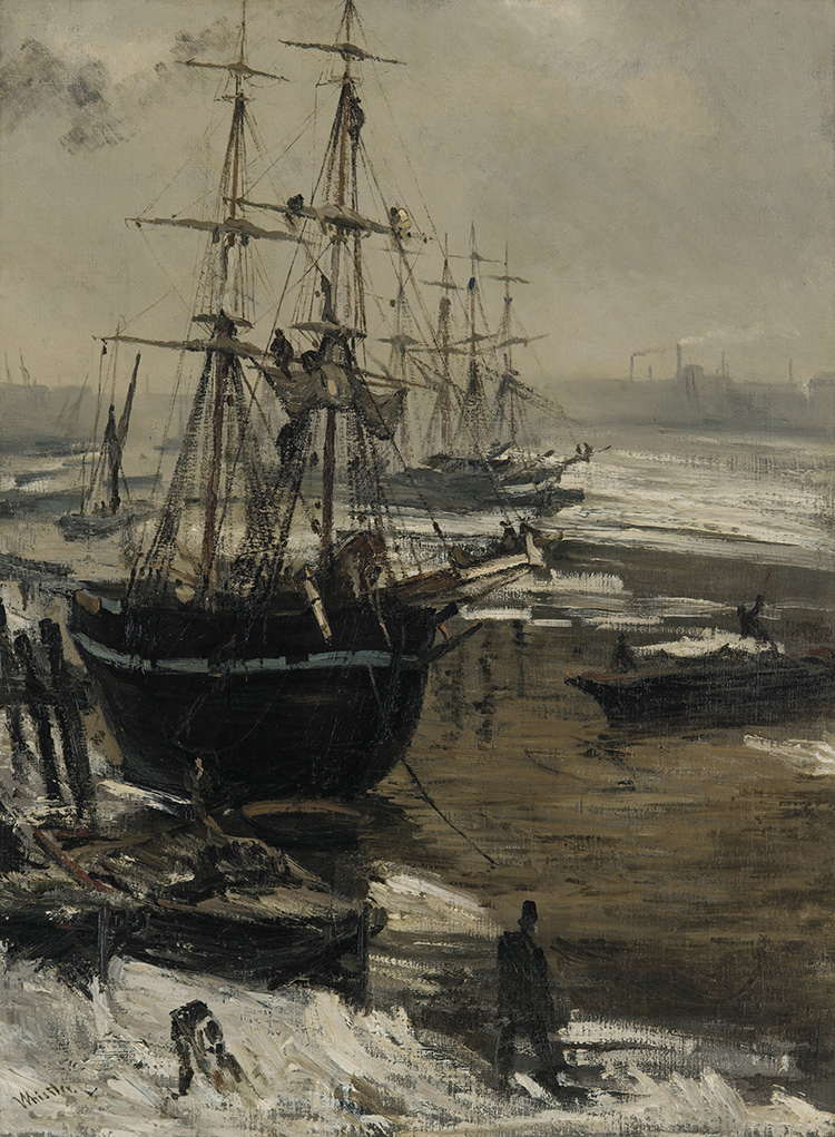 The Thames in Ice, James Abbott McNeill Whistler, 1860.