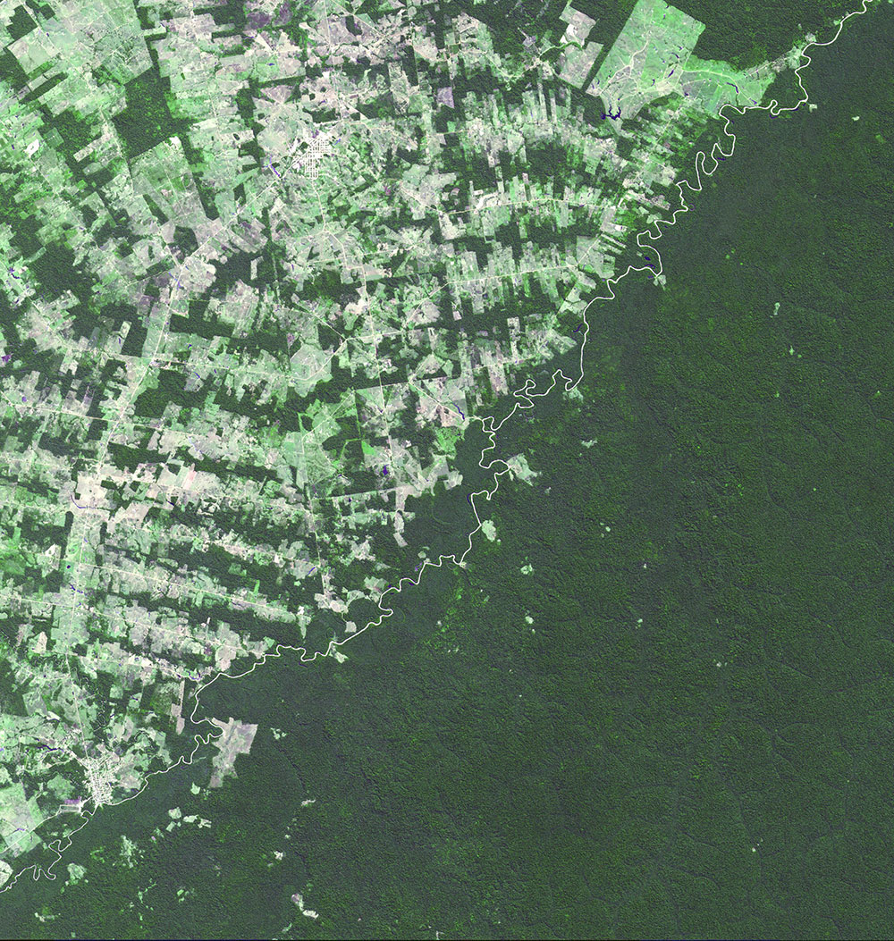Brazil-Bolivia border, 16 April 2013. © NASA/GSFC/METI/ERSDAC/JAROS