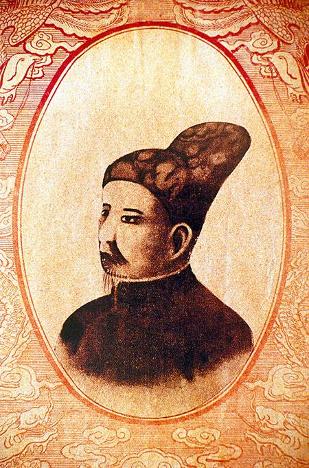 Portrait of Gia Long, founder of the Nguyen dynasty. Copyright Bridgeman Images