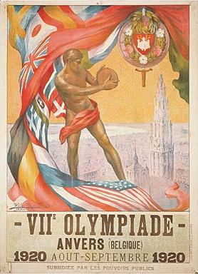 Poster for the Antwerp Olympics in 1920