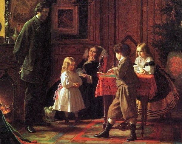 eastman johnson american painter 1824 1906 christmas time the blodgett family 1864