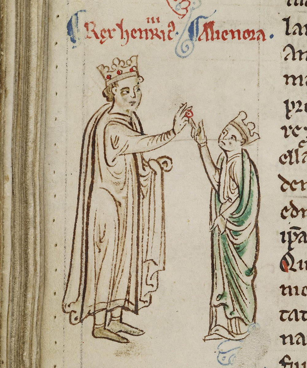 Marriage of Henry III and Eleanor of Provence from the Historia Anglorum, Chronica majora, Matthew Paris, 13th century.