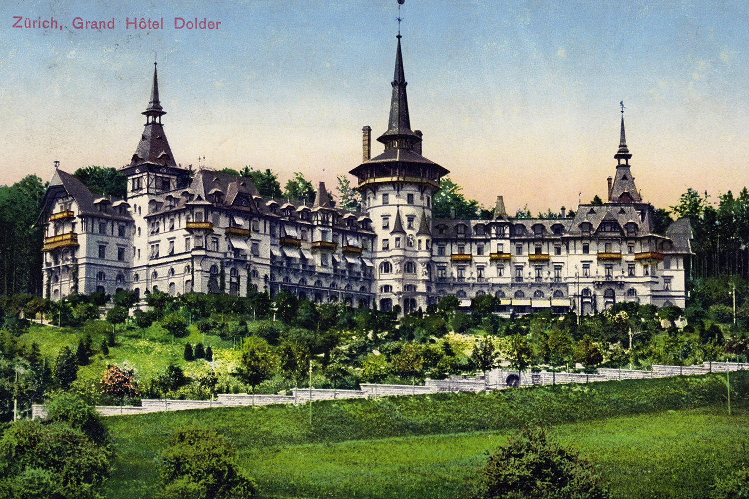 Grand Hotel Dolder, Zurich, Switzerland, c.1900.