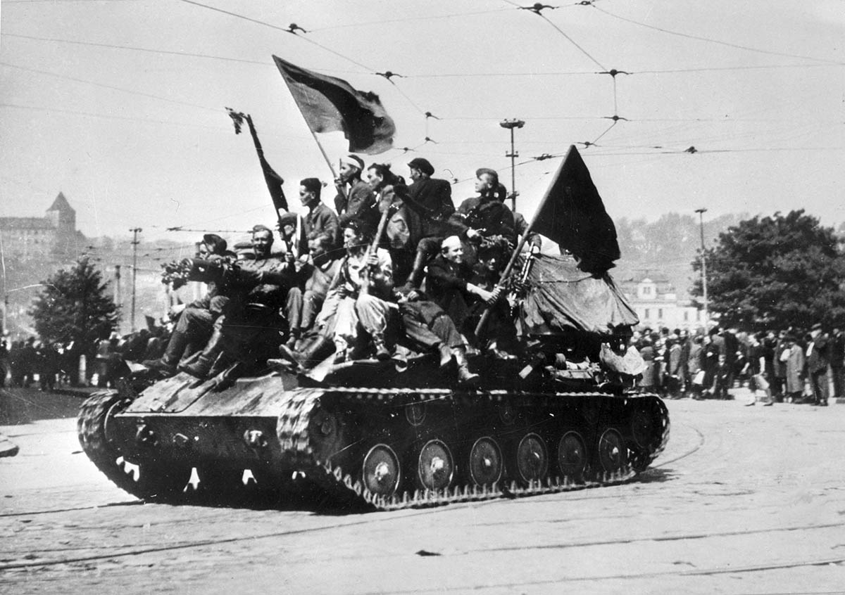 The Red Army arrives in Prague, 9 May, 1945.
