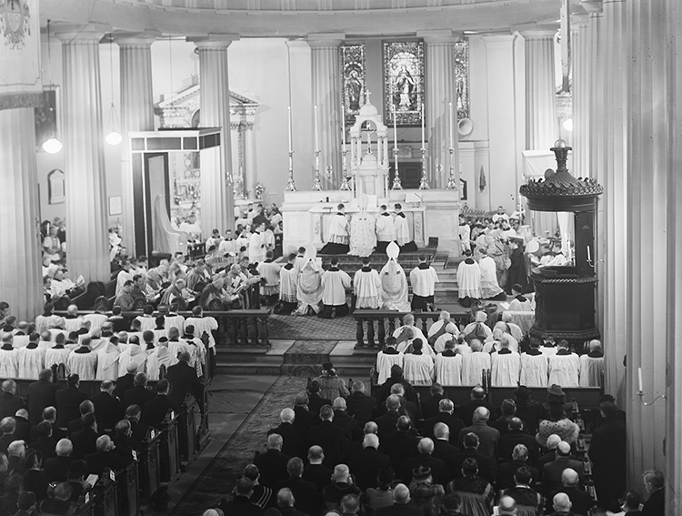 Consecration of Dr John Charles McQuaid as Archbishop of Dublin, St Mary's Pro Cathedral, 1940.