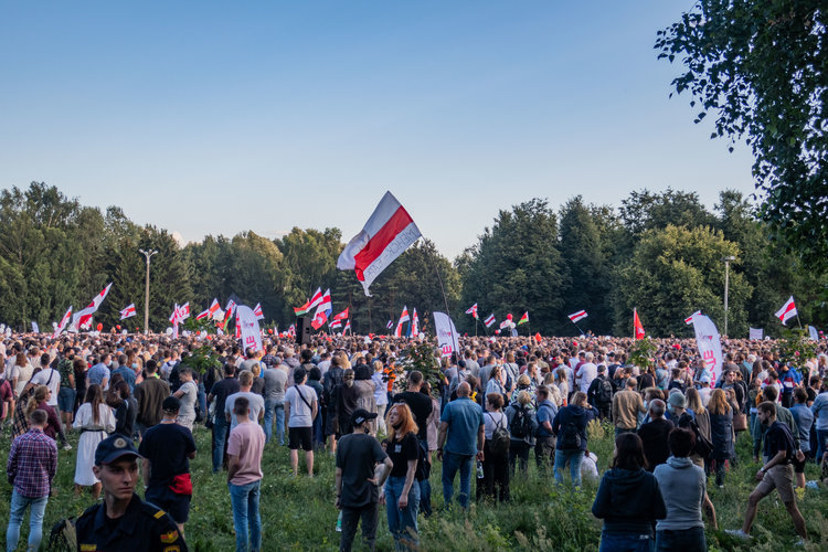 Rally in support of Svetlana Tikhanovskaya, 30 July 2020, Minsk.