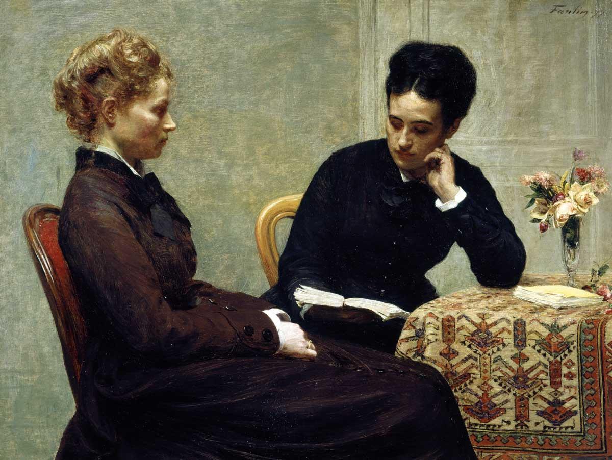 Reading, by Henri Fantin-Latour, 1877 © Bridgeman Images.