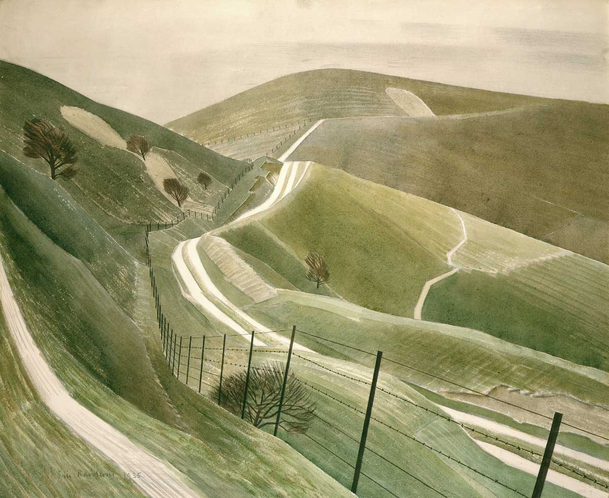 Chalk Paths, by Eric Ravilious, 1935 © Private Collection/Bridgeman Images.