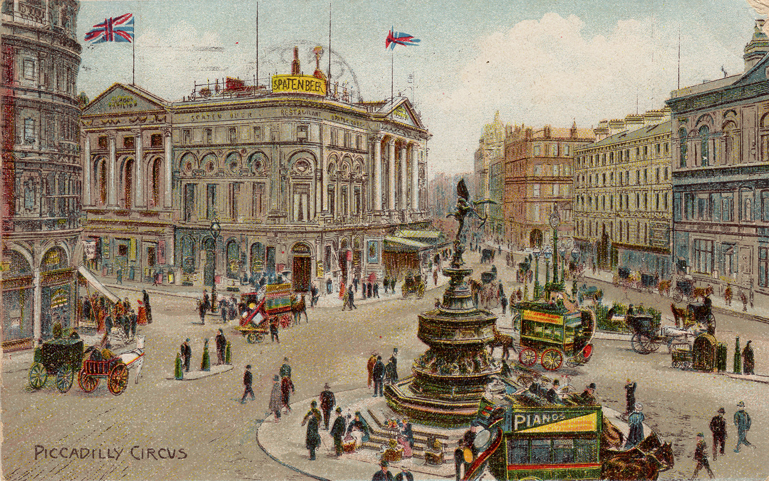Piccadilly Circus, author's collection.