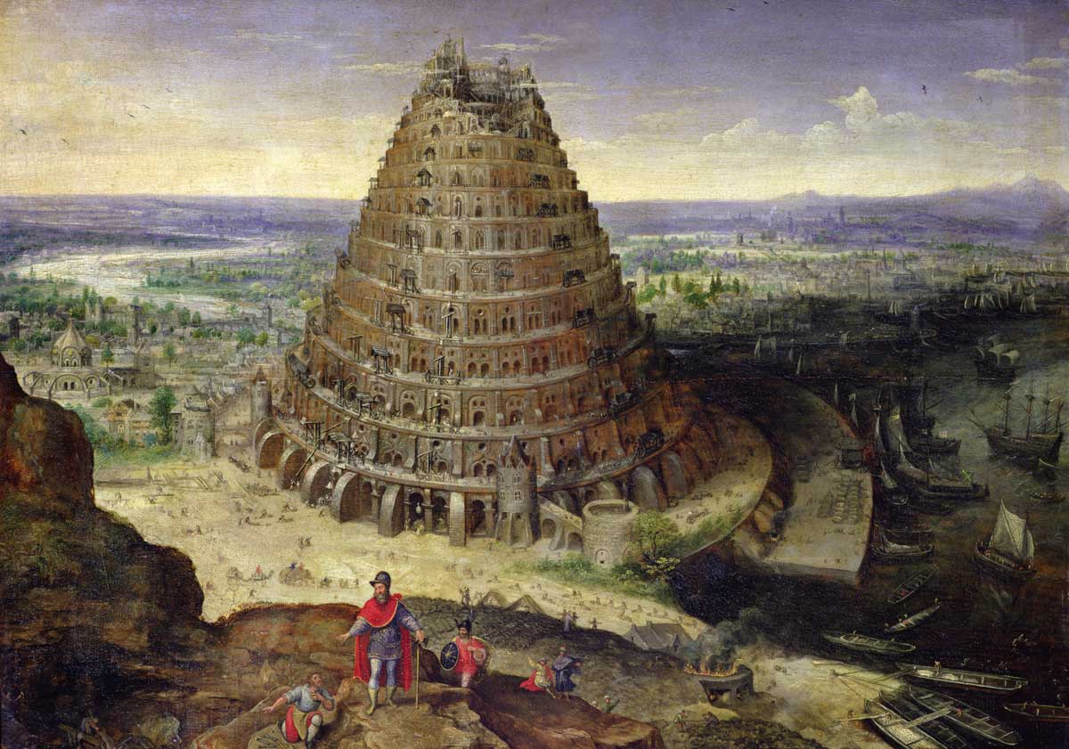 The Tower of Babel, by Lucas van Valckenborch, 1594 © Bridgeman Images.