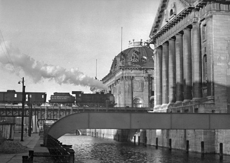 Museum Island with Pergamon Museum and Bode Museum, Berlin. December 1951. German Federal Archives/Wiki Commons.