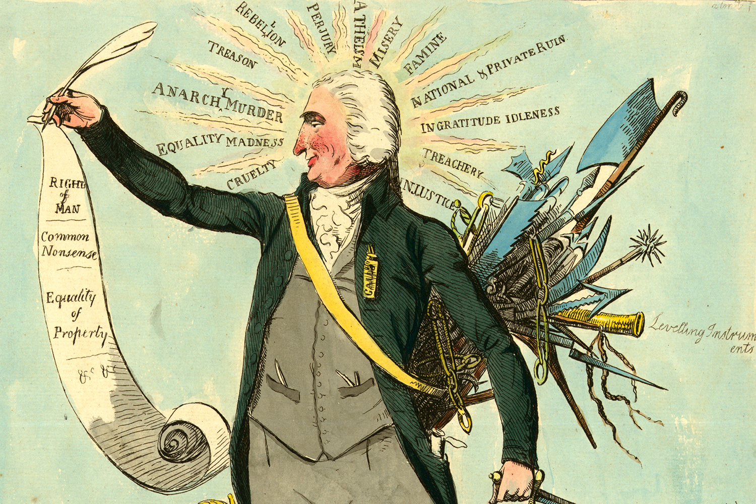 Caricature of Thomas Paine, unknown artist, 26 December 1792.