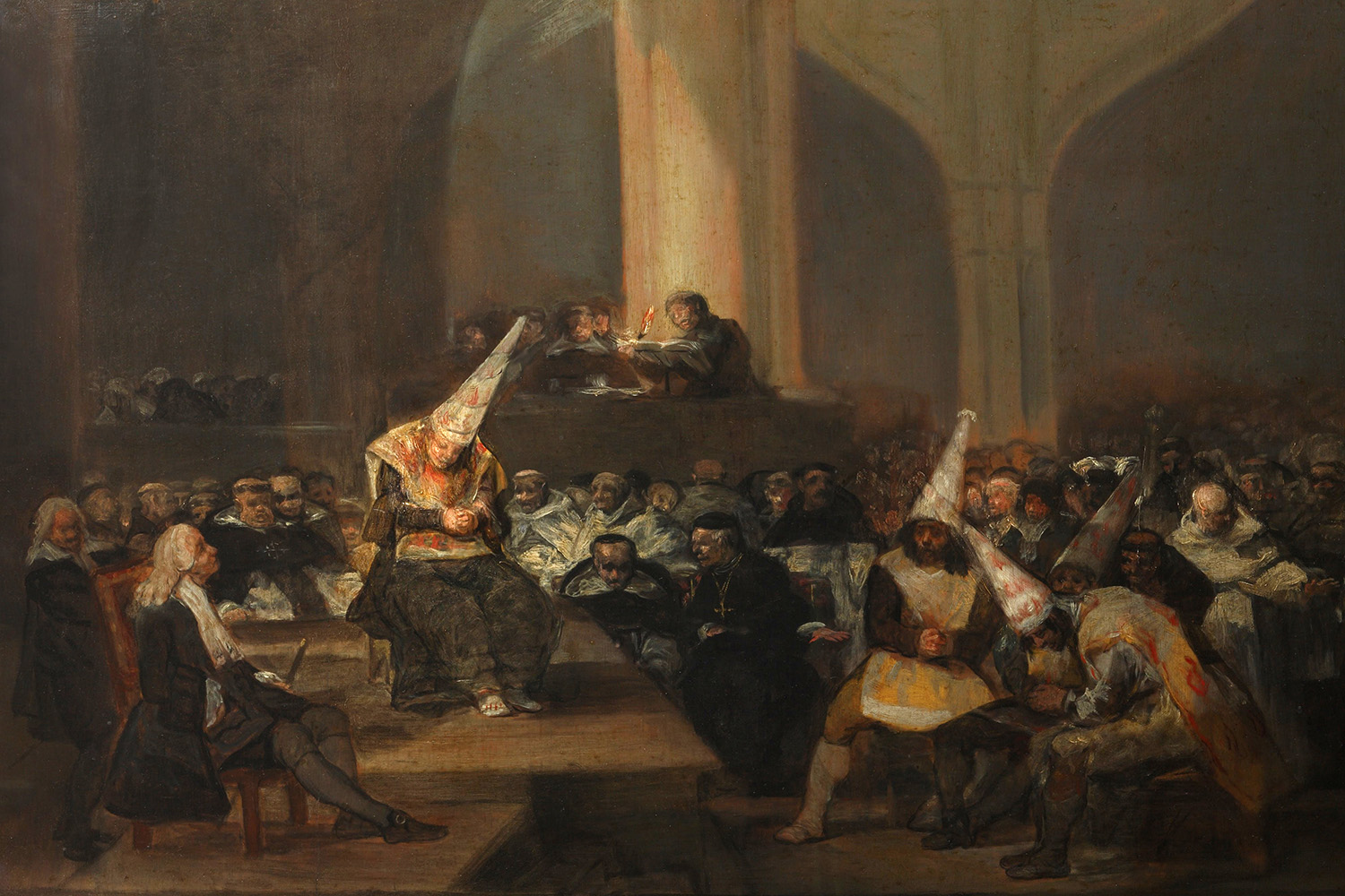 The Inquisition Tribunal by Francisco de Goya, c.1808-12.