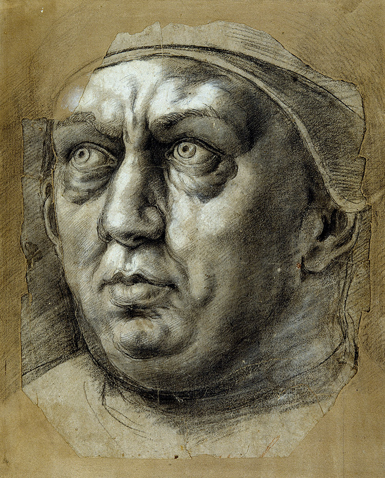 Head of Pope Leo X by Giulio Romano, 16th century.