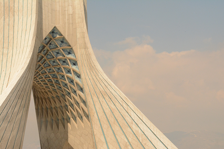Azadi Tower, Tehran, commissioned by Mohammad Reza Pahlavi to mark the 2,500th year of the foundation of the Imperial State of Iran. Photo: Sophie Hay