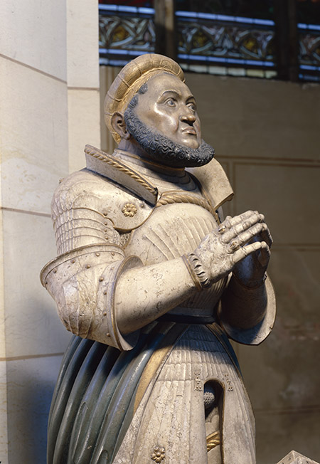 Alabaster statue of Elector Frederick the Wise at the castle church, Wittenberg, c.1529.  © Bridgeman Images.