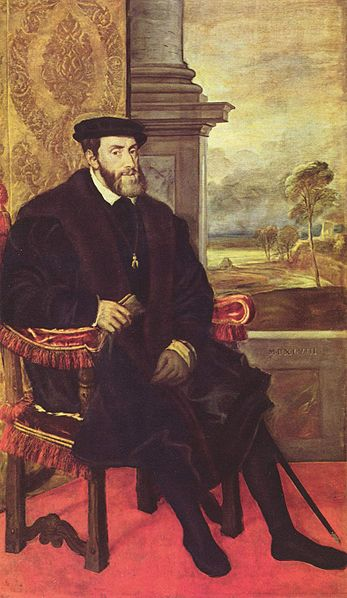 Portrait of Charles V in 1548