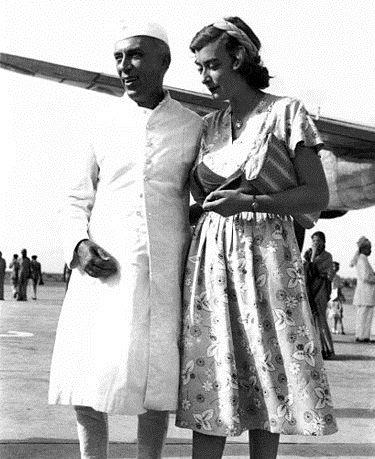 Nehru with Pamela Mountbatten