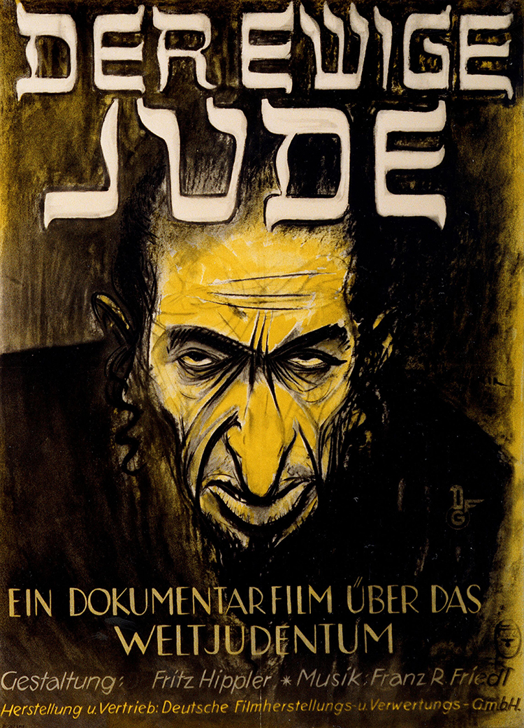 Poster for The Eternal Jew by Hans Herbert Schweitzer.