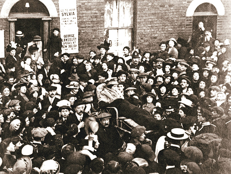Sylvia Pankhurst in a bath chair, London, June 1914.