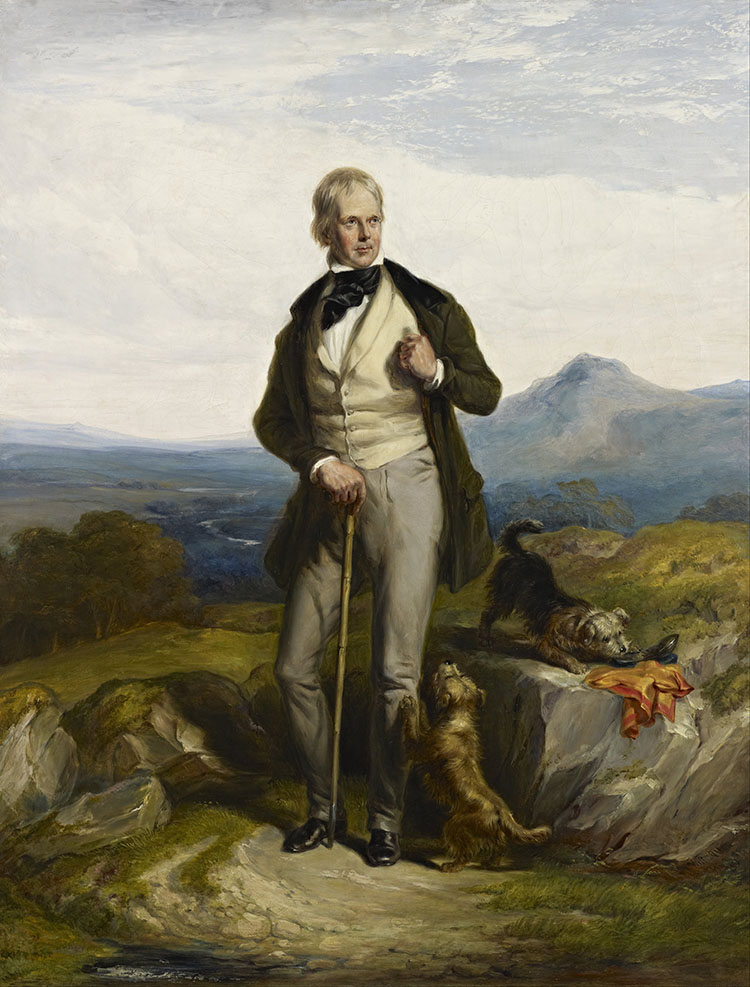 Old Romantic: Sir Walter Scott by Sir William Allan, 1844.