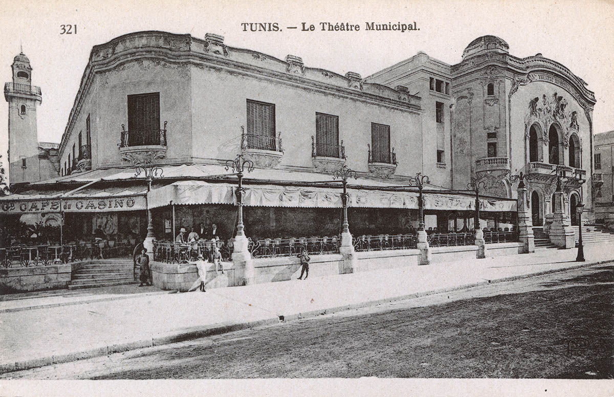 Municipal Theatre, Tunis, c.1910.