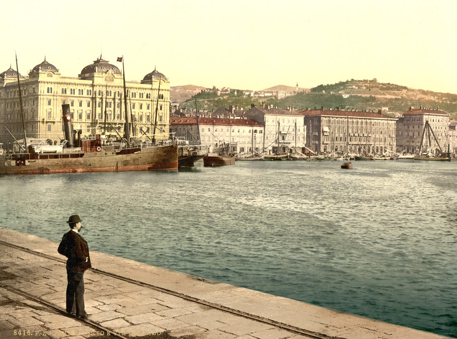 The harbour at Fiume, c.1900.