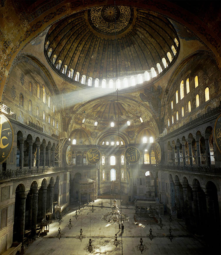Interior of the Hagia Sophia, Istanbul.