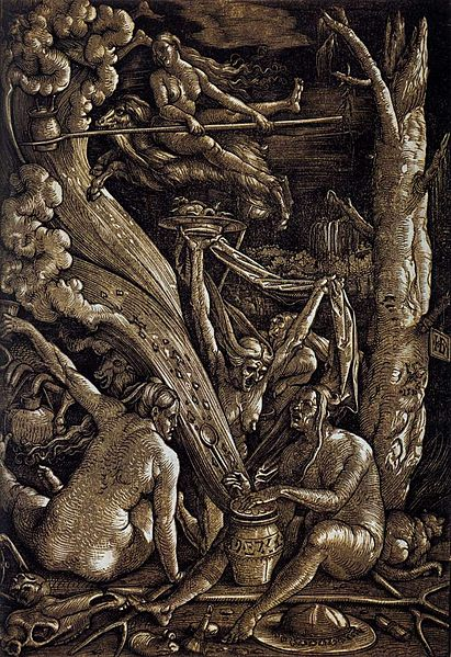Witches by Hans Baldung Grien, 1510